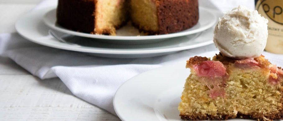 RHUBARB, ORANGE & ALMOND CAKE