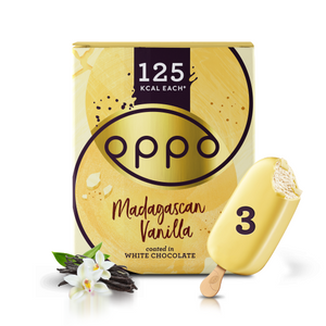 Madagascan Vanilla & White Chocolate Ice Cream Sticks 3x80ml