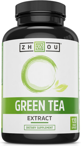 ZHOU NUTRITION, GREEN TEA EXTRACT, 120 VEGGIE CAPSULES - Beforeandafter50