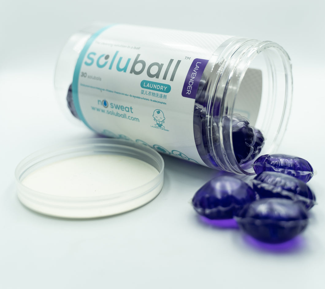 Soluball Baby Laundry (Lavender) - Soluball Floor & Surface Capsules