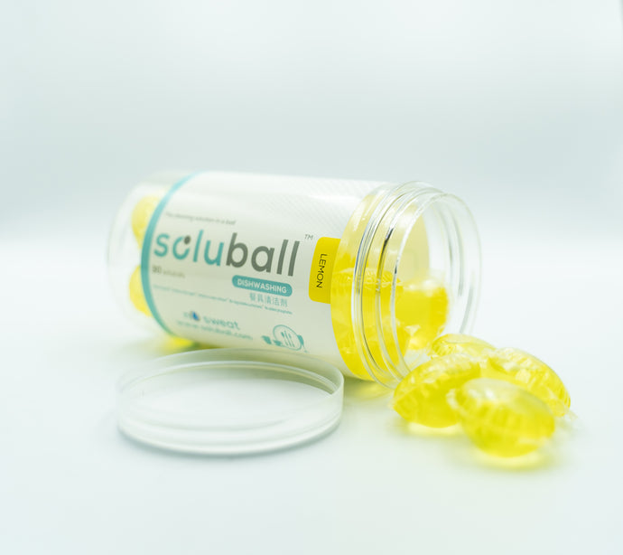 Soluball Dishwashing (Lemon) - Soluball Floor & Surface Capsules