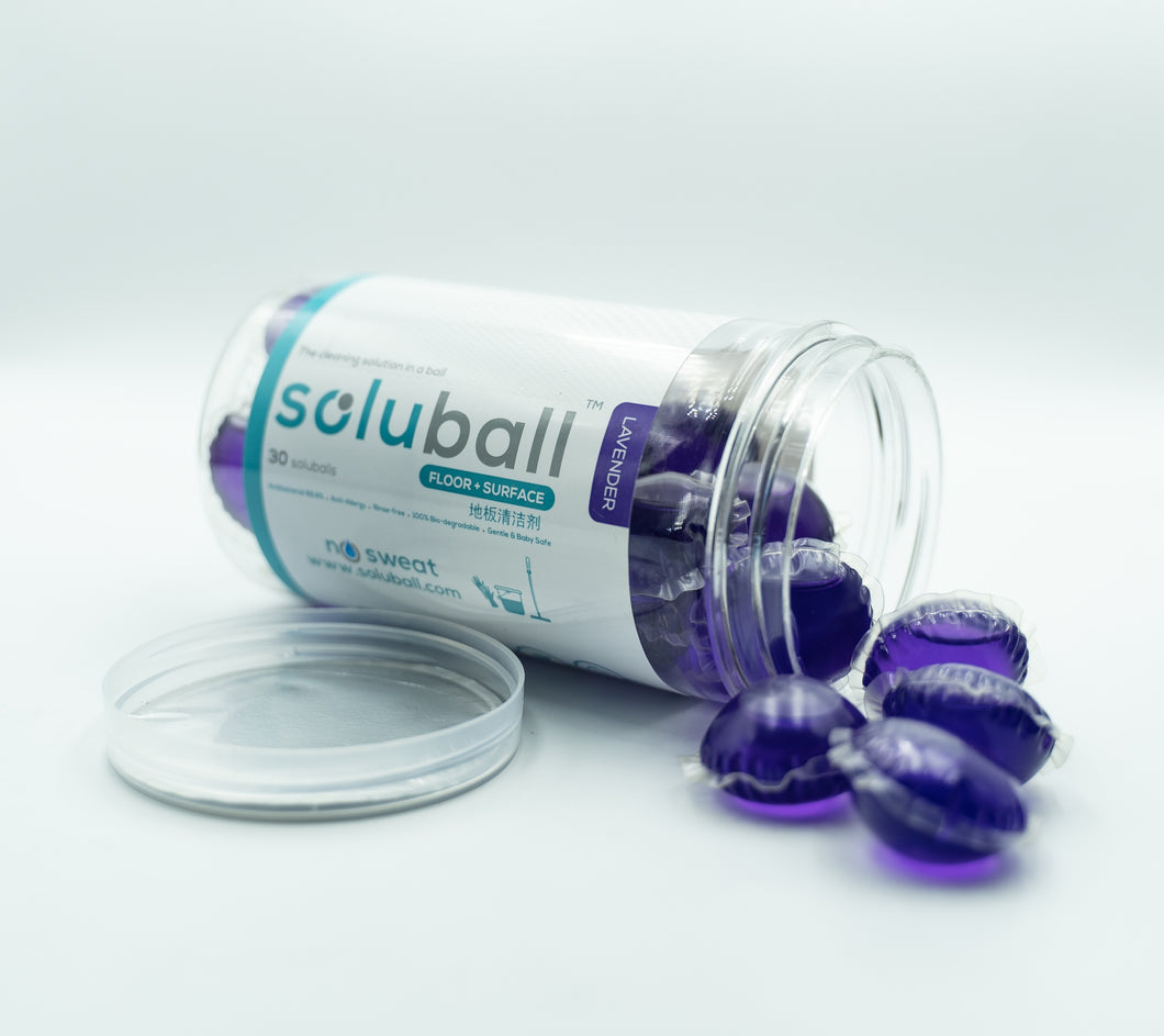 Soluball Surface Cleaner (Lavender) - Soluball Floor & Surface Capsules