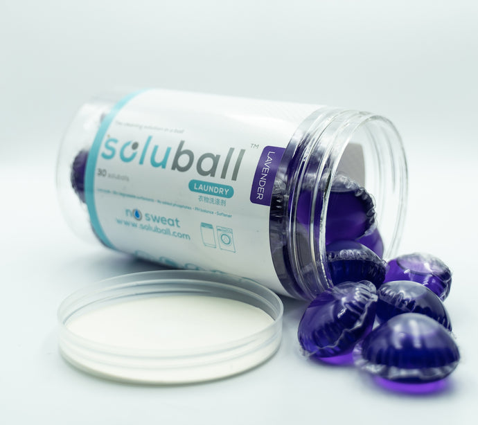 Soluball Laundry (Lavender) - Soluball Floor & Surface Capsules