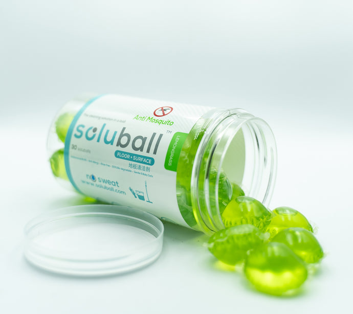 Soluball Surface Cleaner (Lemongrass) - Soluball Floor & Surface Capsules