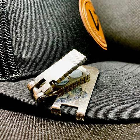 Magnetic Nippers on Hat