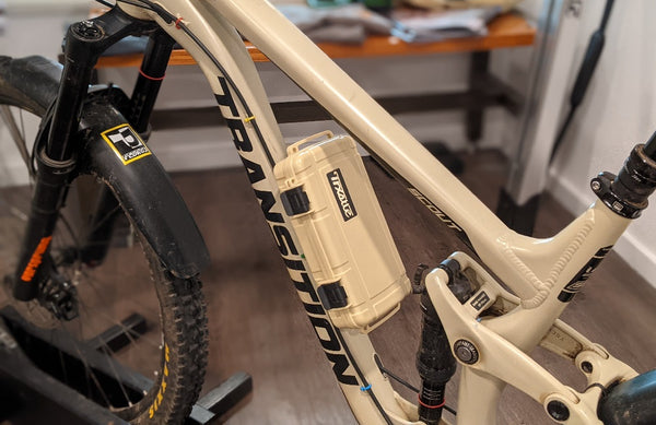SLip Mount and Big Water Case On A bike