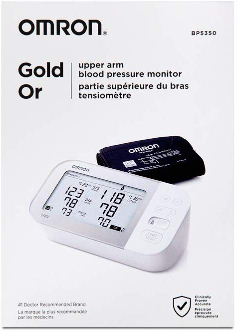 Omron Gold Wireless Upper Arm Blood Pressure Monitor BP5350 | 歐姆龍金裝無線上臂式血壓計 BP5350
