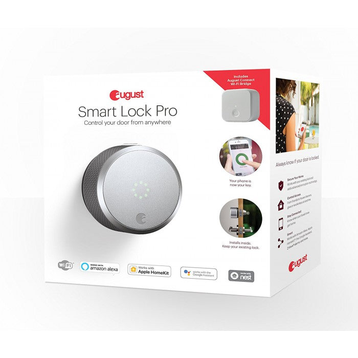 August Smart Lock Pro 3rd Gen + Connect Bundle | August 智能門鎖 Pro 第三代 + Connect 套裝