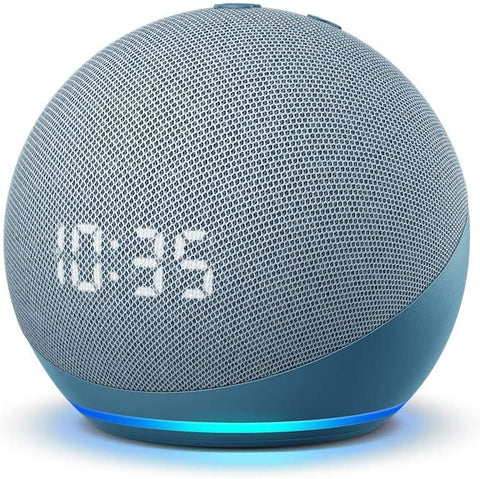 Amazon Echo Dot (4th Gen) Smart Speaker with clock and Alexa | 亞馬遜具有Alexa及時間顯示的Echo Dot(第四代)智能揚聲器