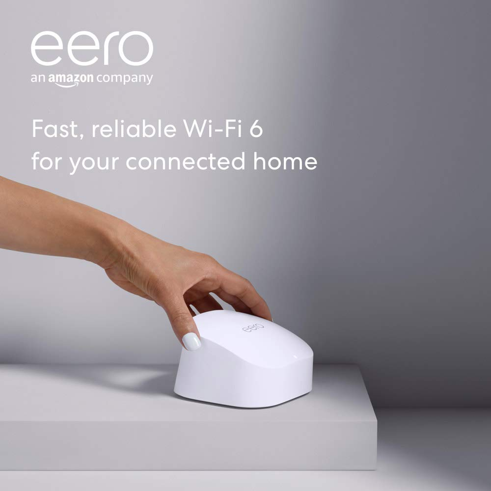 Amazon eero 6 dual-band mesh Wi-Fi 6 router | 亞馬遜 Eero 6雙頻網狀Wi-Fi 6 路由器