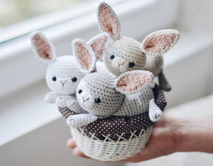 Easter Bunny Crochet Pattern, Rabbit Amigurumi PDF Tutorial - Firefly Crochet