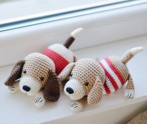 Crochet Dog Pattern, Amigurumi Puppy Dog Crochet Tutorial PDF - Firefly Crochet