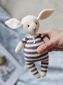 Crochet pattern rabbit toy tutorial PDF - Firefly Crochet
