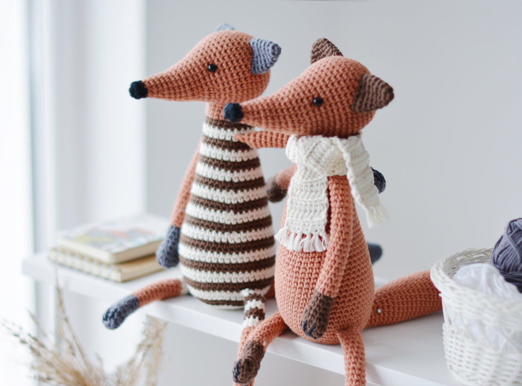 Crochet Pattern for Two Foxes, Amigurumi Fox Tutorial PDF - Firefly Crochet