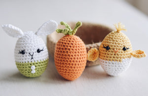 Easter Eggs and Jute Basket Crochet Pattern for Beginners - Firefly Crochet