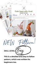 Load image into Gallery viewer, Easter Gnomes Crochet Pattern, Amigurumi Gnome Easter Tutorial PDF - Firefly Crochet