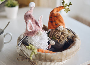 Easter Gnomes Crochet Pattern, Amigurumi Gnome Easter Tutorial PDF - Firefly Crochet