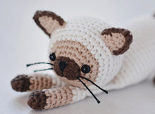 Load image into Gallery viewer, Amigurumi Siamese Cat Crochet Pattern - Firefly Crochet