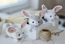 Load image into Gallery viewer, Easter Bunny Crochet Pattern, Rabbit Amigurumi PDF Tutorial - Firefly Crochet
