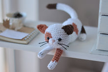 Load image into Gallery viewer, Calico Kitten Crochet Pattern, Spotted Cat Amigurumi - Firefly Crochet