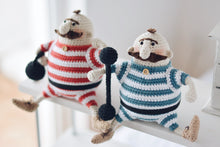 Load image into Gallery viewer, Amigurumi Doll Crochet Pattern for Two Strongmen - Firefly Crochet