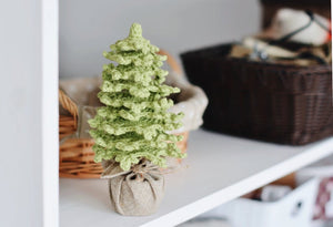 Farmhouse Christmas Tree crochet pattern for table decor - Firefly Crochet