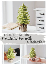 Load image into Gallery viewer, Farmhouse Christmas Tree crochet pattern for table decor - Firefly Crochet