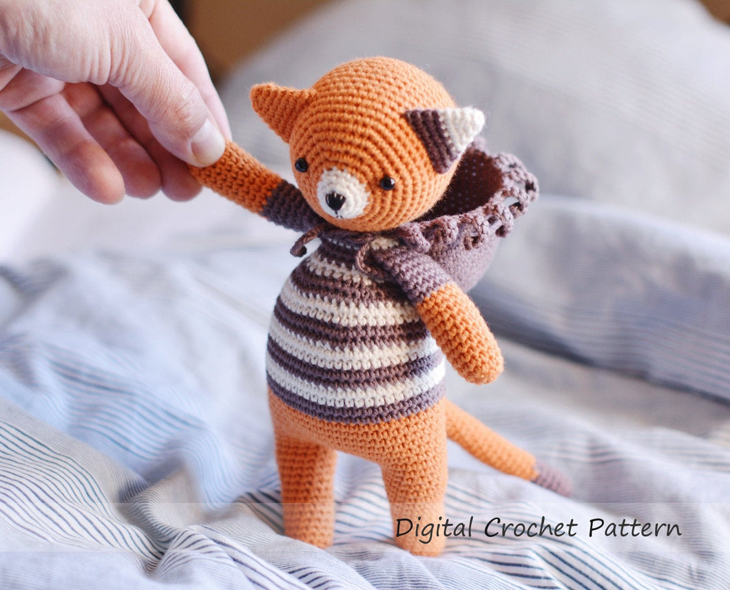 Crochet Pattern for a Cat & Lion Amigurumi - Firefly Crochet