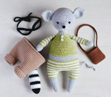 Load image into Gallery viewer, Crochet pattern for a Mouse & Raccoon amigurumi - Firefly Crochet