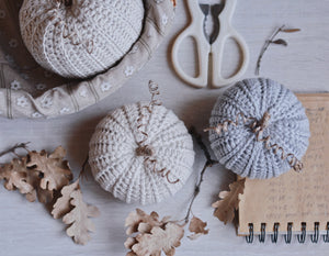 Crochet Pattern for Three Rustic Pumpkins - Firefly Crochet