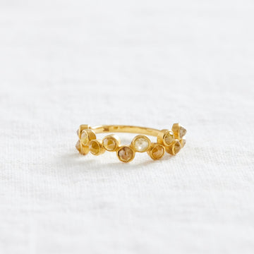 Staggered Diamonds Ring-Indian Gold-Marisa Mason Jewelry