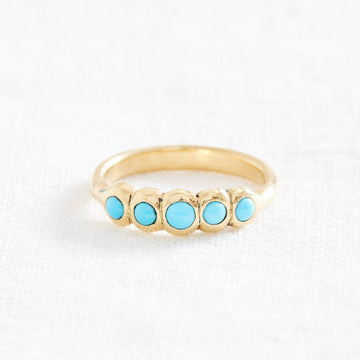 Turquoise Bloom Ring