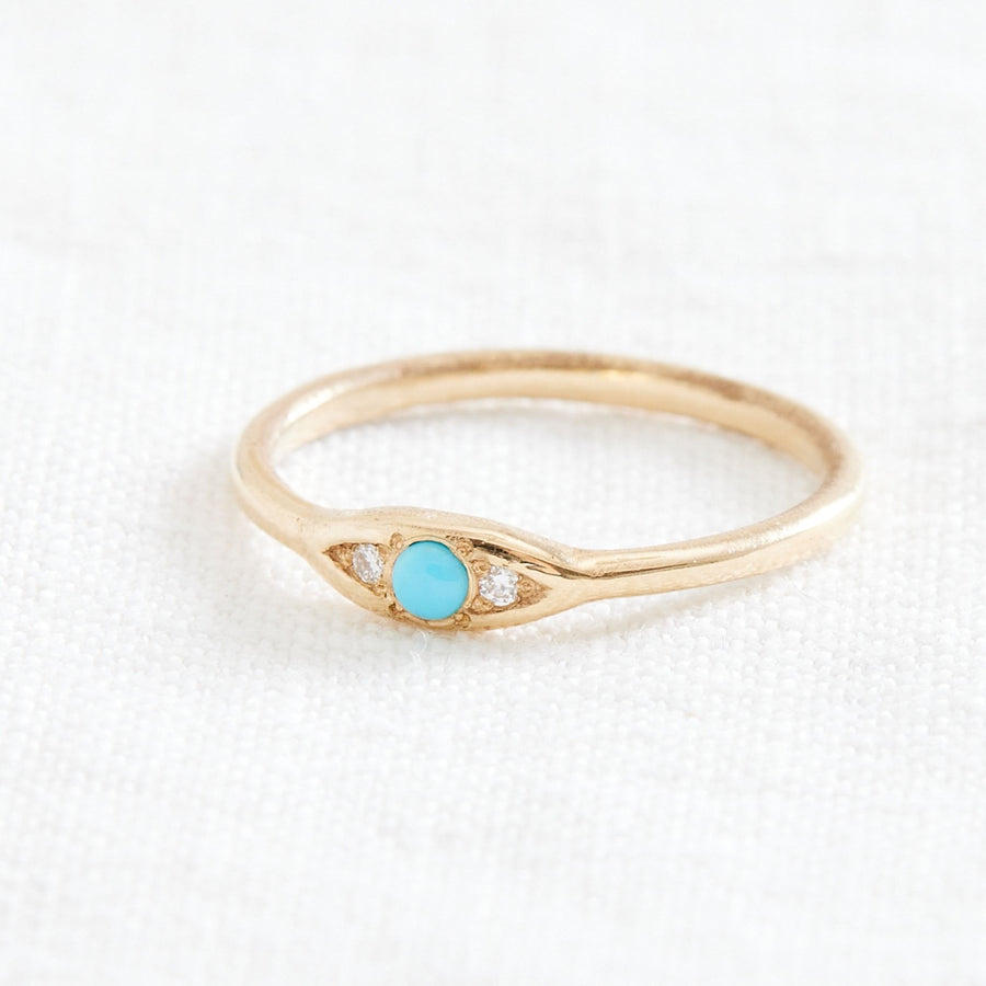 Trio Ring Diamond and Turquoise