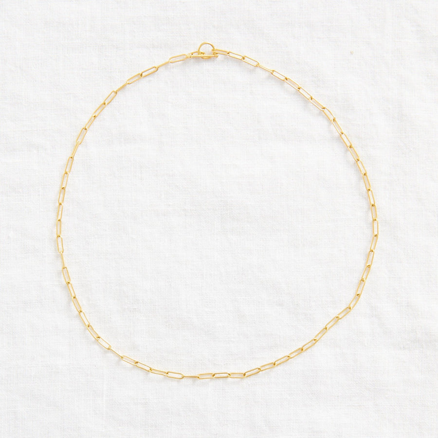 PAPERCLIP CHAIN-Indian Gold-Marisa Mason Jewelry