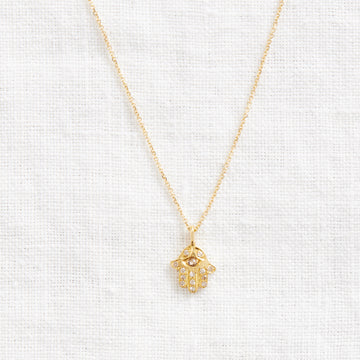 Hamsa Necklace-Indian Gold-Marisa Mason Jewelry