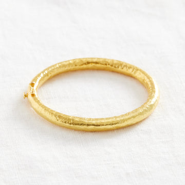 20k Clasp Bangle-Indian Gold-Marisa Mason Jewelry