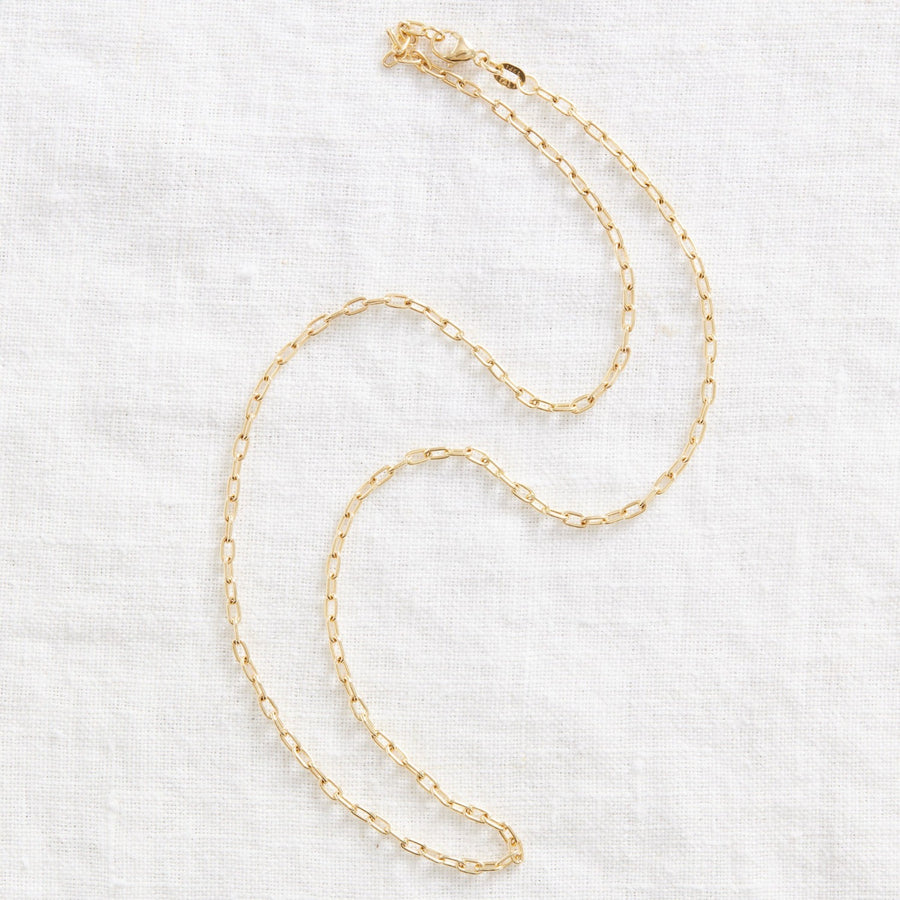 Mini Paperclip chain-Gold Essentials-Marisa Mason Jewelry