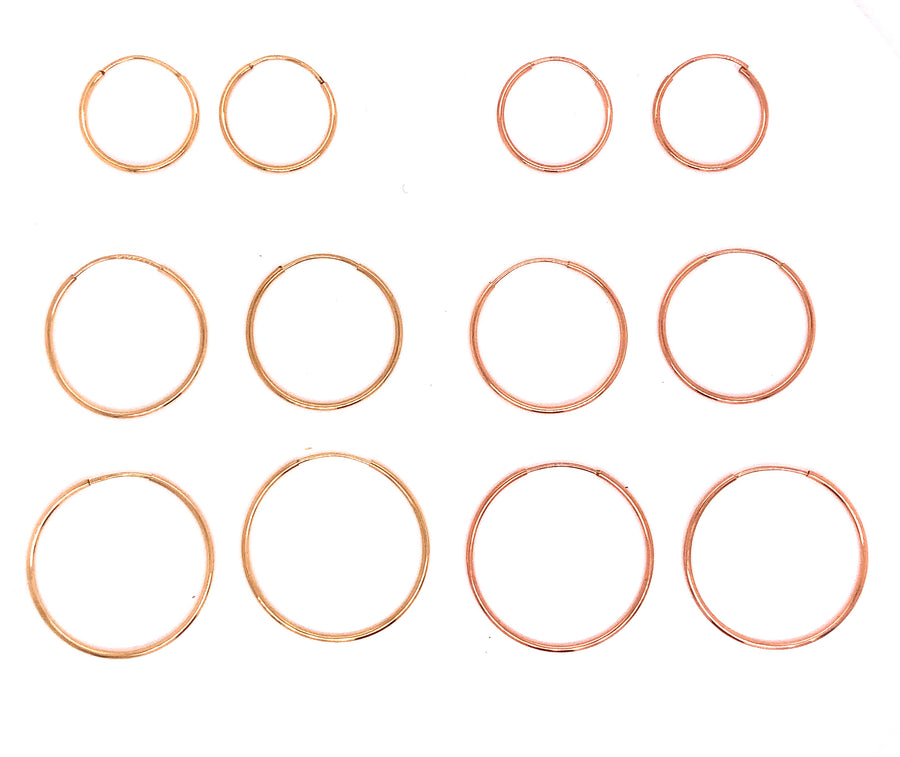 Infinity Hoops - 15mm-Gold Essentials-Marisa Mason Jewelry