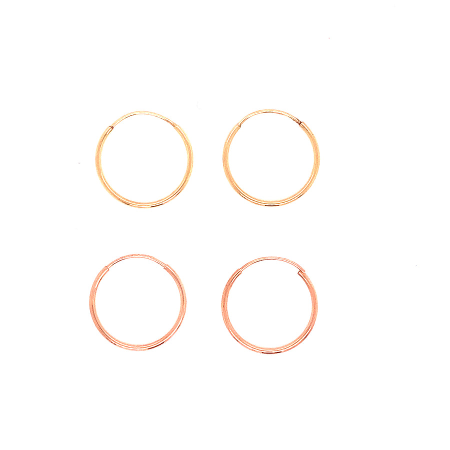 Infinity Hoops - 15mm-Gold Essentials-Rose gold-Single-Marisa Mason Jewelry