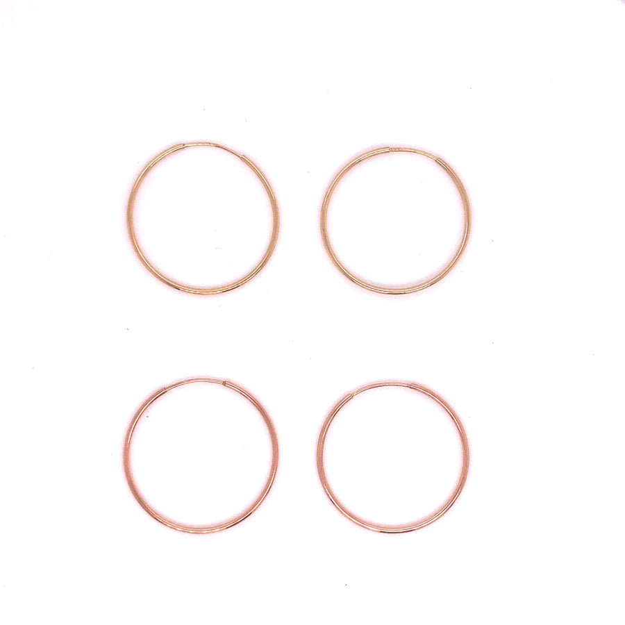 Infinity Hoops - 20mm-Gold Essentials-Rose gold-Single-Marisa Mason Jewelry