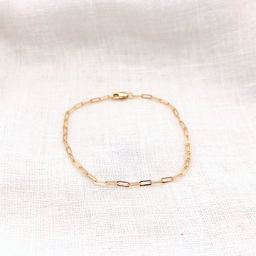 Flat Cable Chain Bracelet-Gold Essentials-Marisa Mason Jewelry