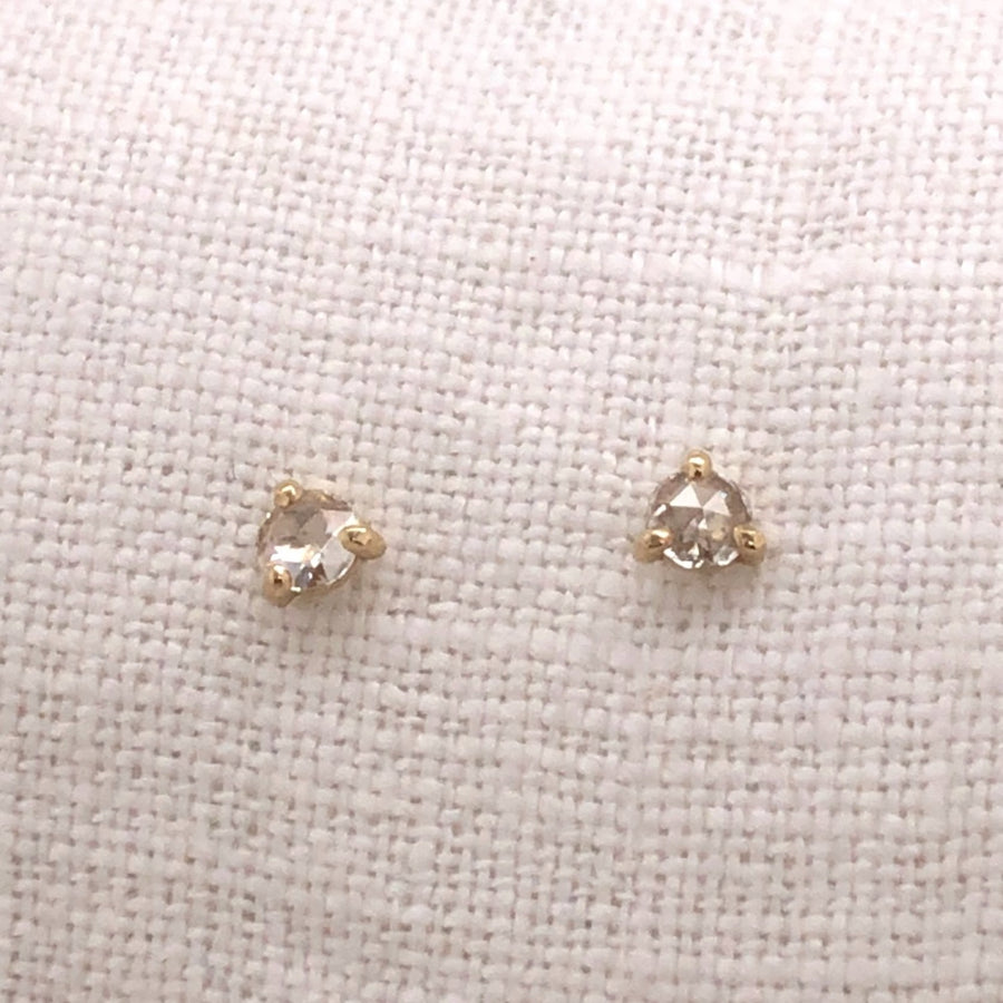 Rose Cut Diamond Studs-Gold Essentials-Marisa Mason Jewelry