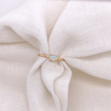 Opal + Diamond Ring