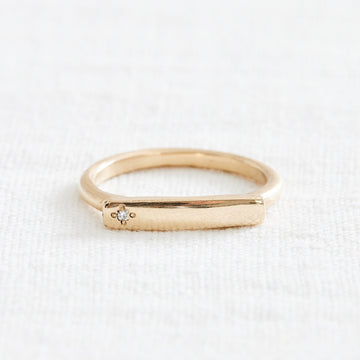 Single Diamond Message Ring-Marisa Mason Jewelry-Marisa Mason Jewelry