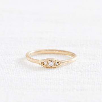 Diamond Trio Ring-Marisa Mason Jewelry-Marisa Mason Jewelry