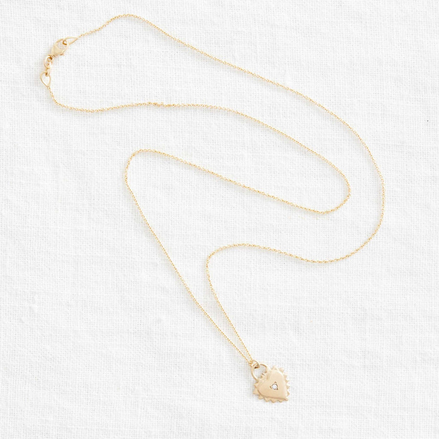 14k Mini Sagrado with Diamond-Marisa Mason Jewelry-Marisa Mason Jewelry