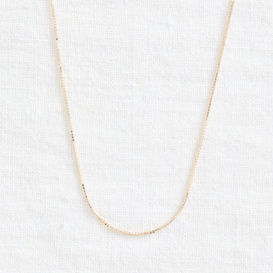 Natural Box Chain-Gold Essentials-Marisa Mason Jewelry
