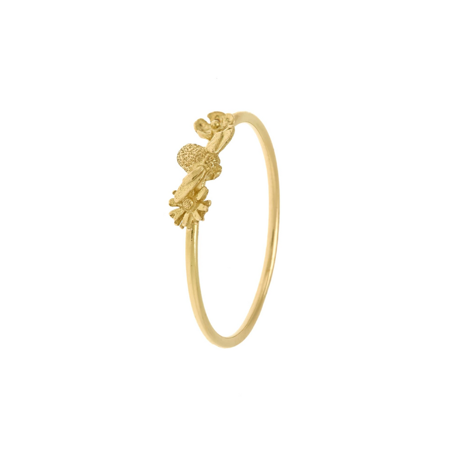 Itsy Bitsy Bee & Floral Ring-Alex Monroe-Marisa Mason Jewelry