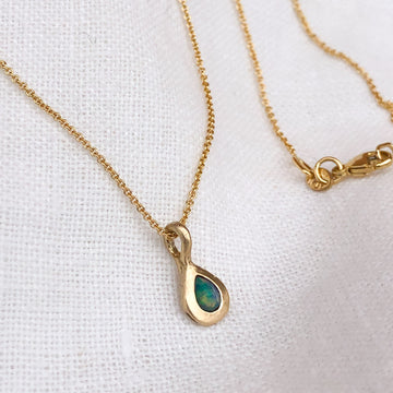 Opal Droplet Necklace