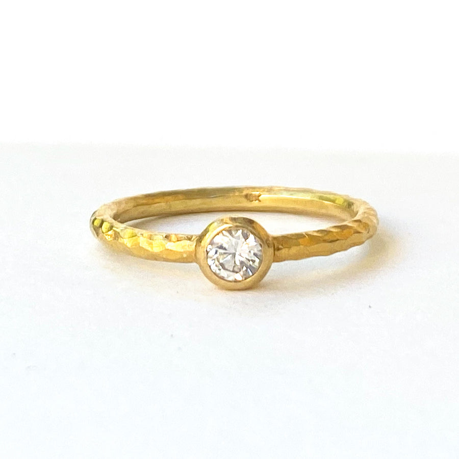 Natural Solitaire-Indian Gold-Marisa Mason Jewelry